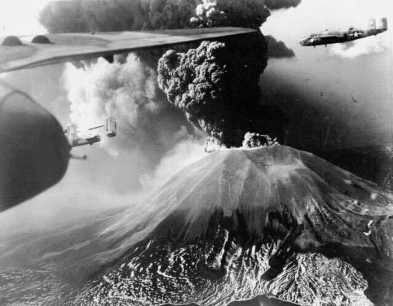 erupcion vesubio 18-3-1942