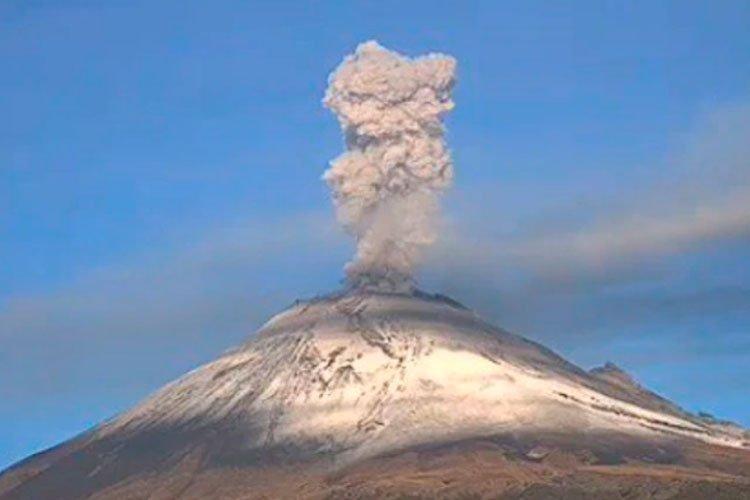 Erupción del Volcán Popocatepelt Agosto 2019