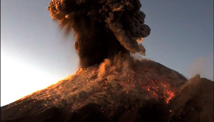 Erupción del Volcán Popocatépetl 9 enero 2020