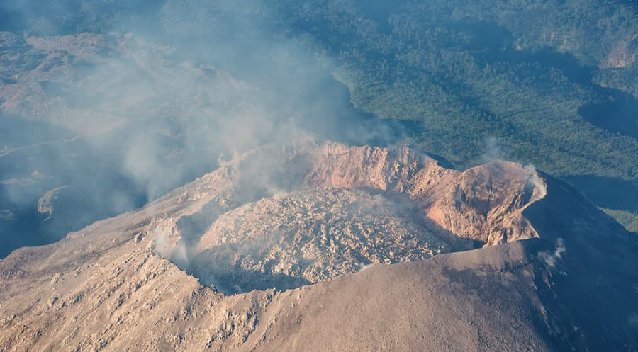 Crater Volcán Santa María Guatemala
