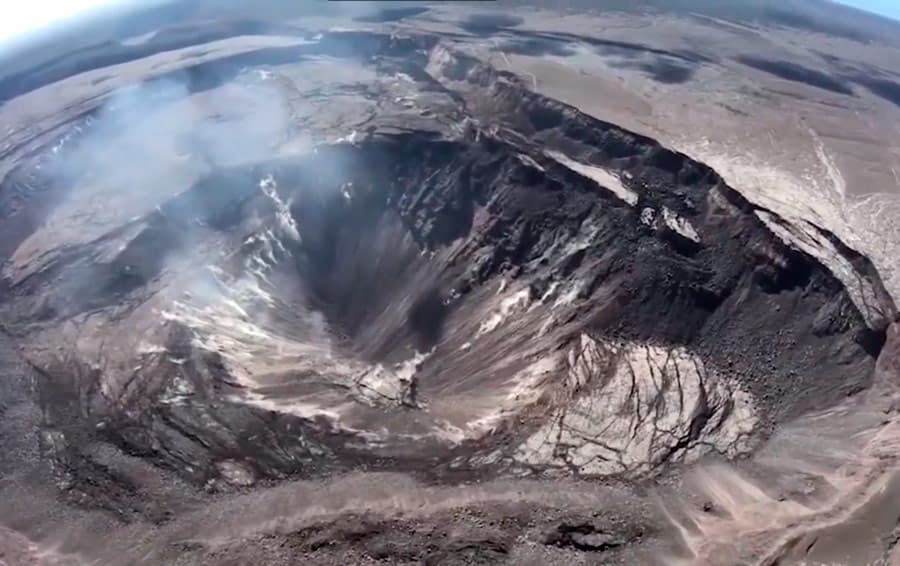 crater volcan kilauea hawaii